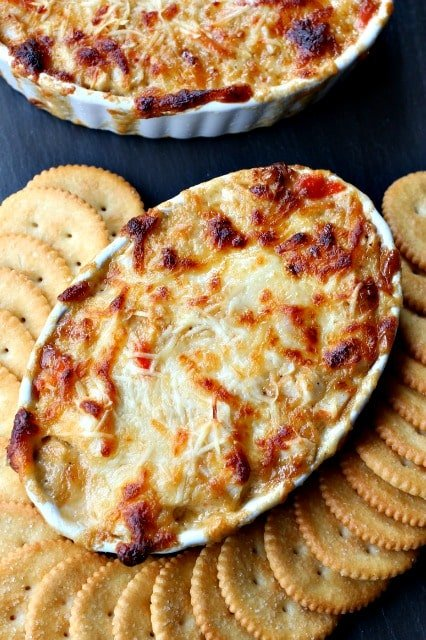 Lobster Delight Dip is a hot dip recipe made with imitation lobster meat