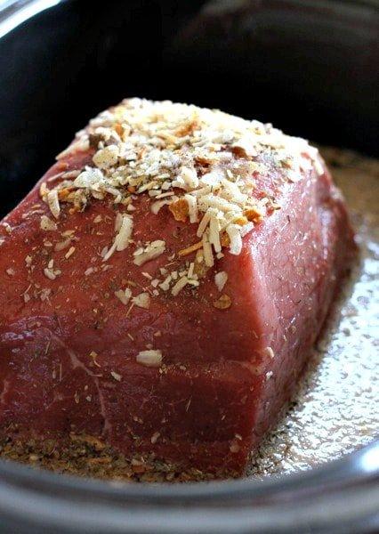 slow cooker italian beef in crock pot