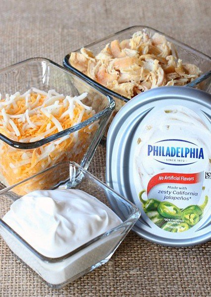 Buffalo Chicken Dip is an easy appetizer recipe with just a few ingredients