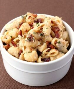 Chicken Marsala Mac and Cheese