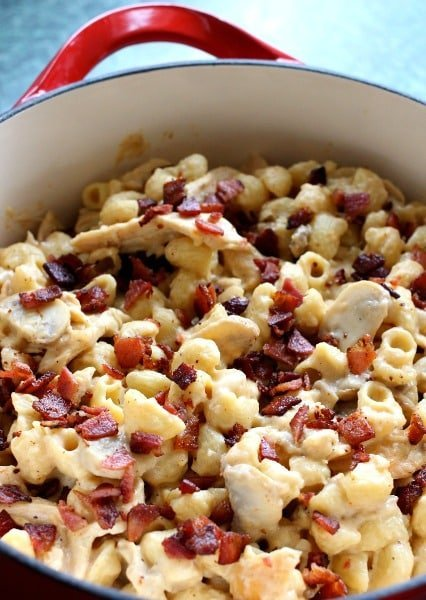 This Chicken Marsala Mac and Cheese will kick that boxed stuff to the curb!