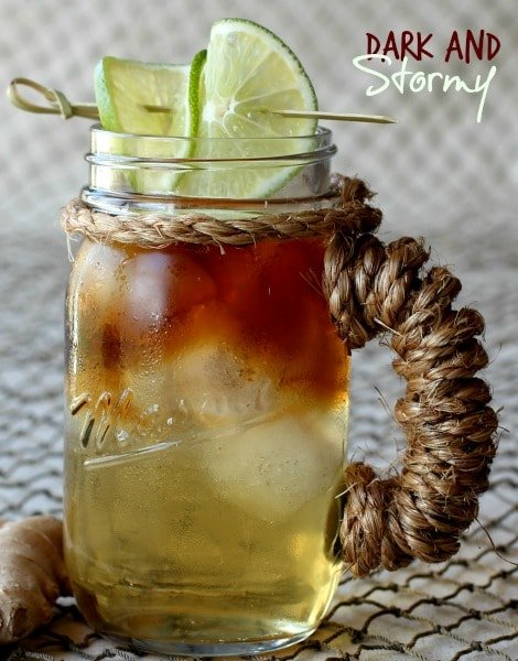 Dark and Stormy Cocktail - Mantitlement