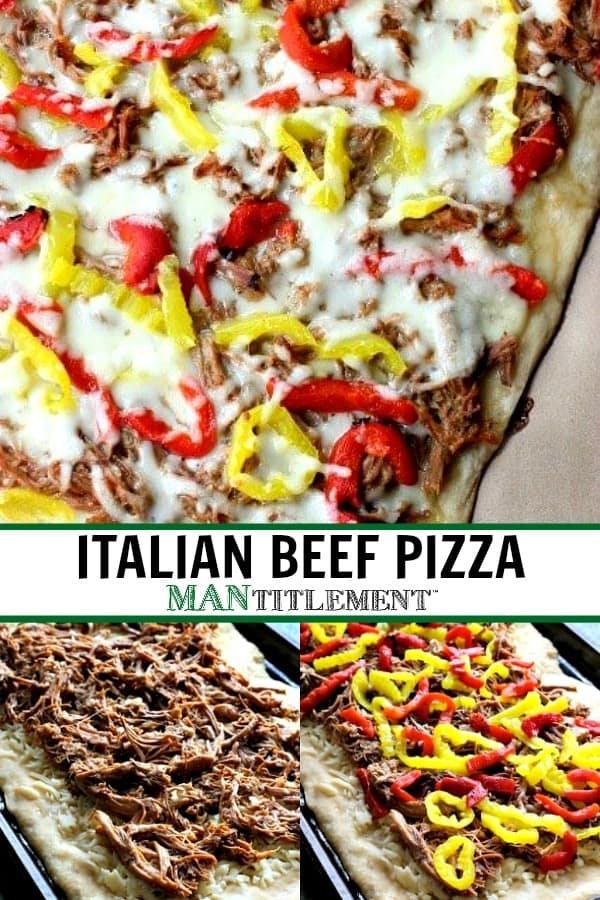 italian beef pizza collage for pinterest