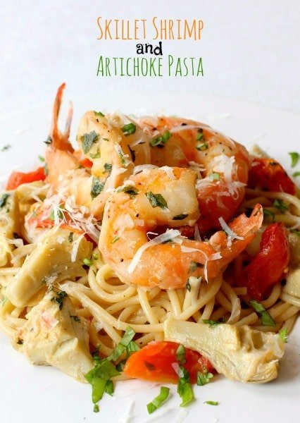 Skillet Shrimp and Artichoke Pasta - Mantitlement