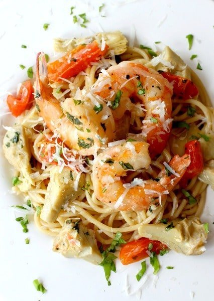 This Skillet Shrimp and Artichoke Pasta is one of my new favorite (and ...