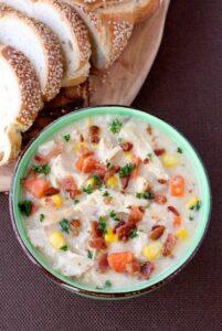 Lighter Chicken Corn Chowder