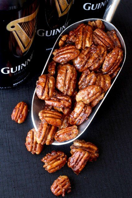 Guinness beer nuts in scoop