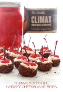Climax Moonshine Cherry Cheesecake Bites