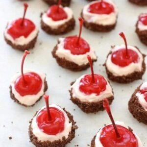 Climax Moonshine Cherry Cheesecake Bites   Boozy Party Dessert Idea