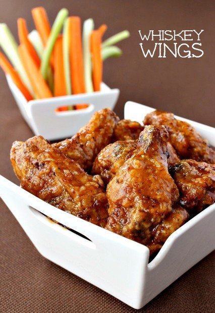 Crispy Fried Chicken Wings Recipe with carrots and celery
