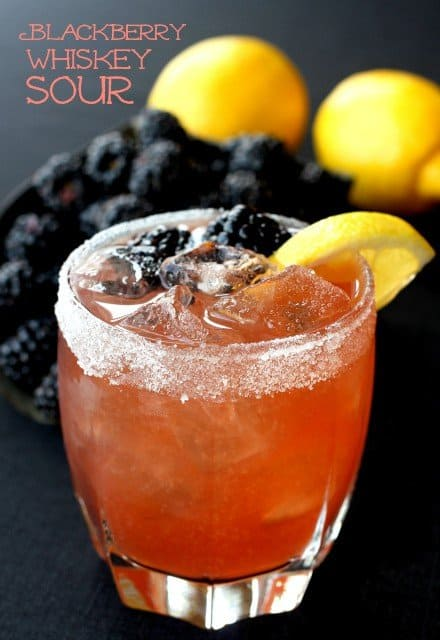 Blackberry Whiskey Sour Cocktail Recipe