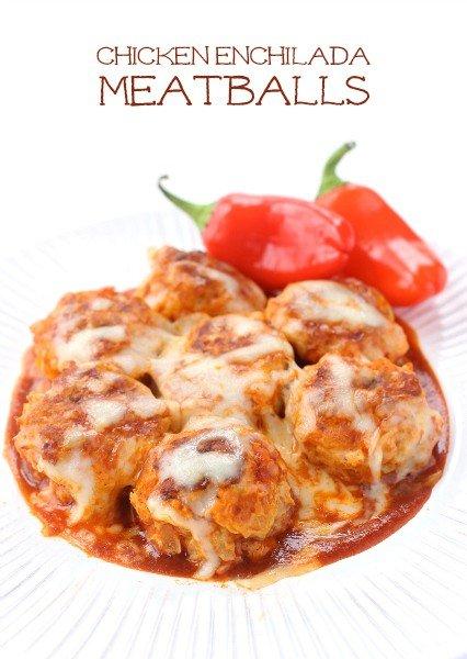 Chicken Enchilada Meatballs featured image