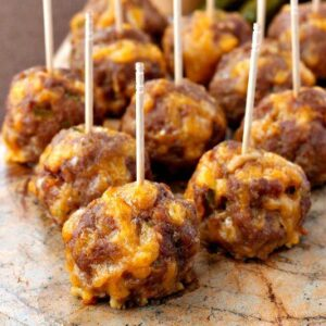 Cheeseburger Meatballs are a super tasty, low carb appetizer!