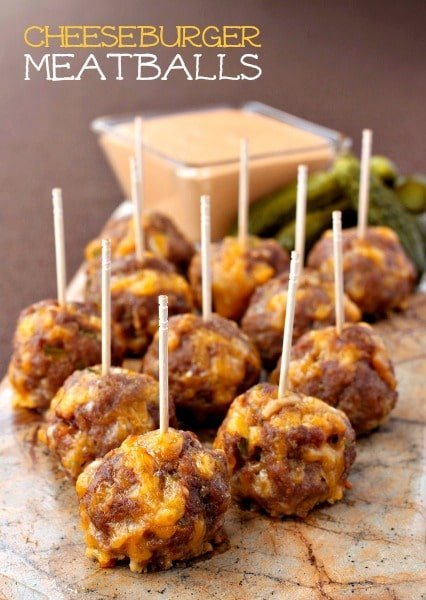 These Cheeseburger Meatballs taste just like biting into a Big Mac!