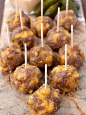 These Cheeseburger Meatballs are perfect for appetizers or a fun dinner!