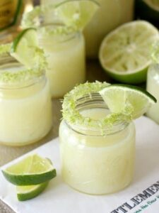 Lime Drop Shots are made with fresh lime and tequila