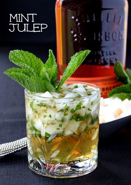 Mint Julep Cocktail with fresh mint