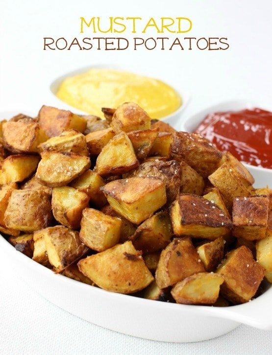 Mustard Roasted Potatoes featured