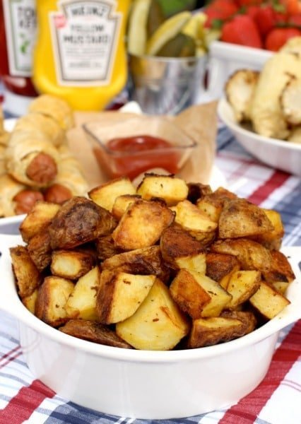 Mustard Roasted Potatoes - Mantitlement
