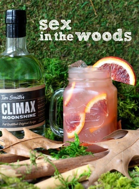 Sex In The Woods cocktail is a fruity drink made with moonsine
