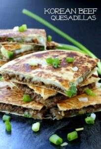 Korean Beef Quesadillas