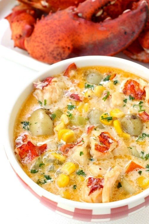 Lobster Corn Chowder is one of my favorite comfort food dinners!