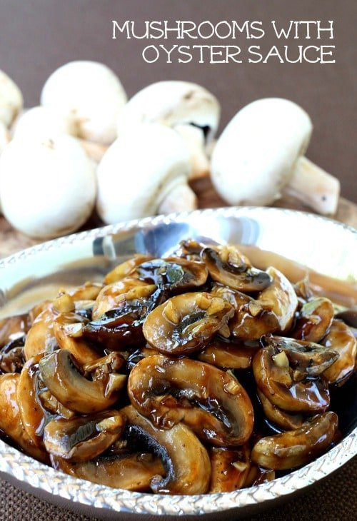Mushrooms with Oyster Sauce featured