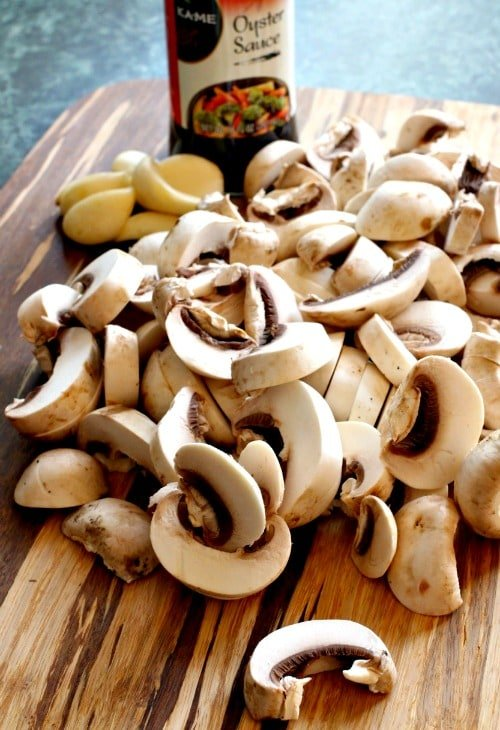 Mushrooms with Oyster Sauce - ingredients