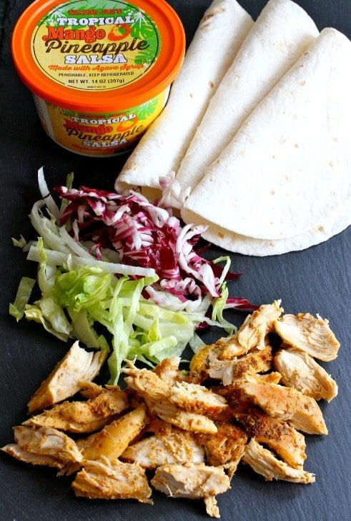 Tropical Chicken Tacos ingredients
