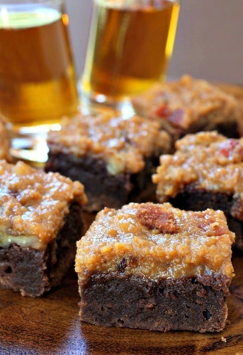 Whiskey Bacon Brownies on board