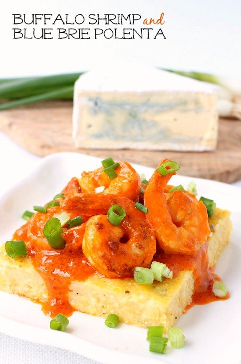 Buffalo Shrimp and Blue Brie Polenta hero