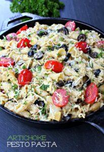 Artichoke Pesto Pasta