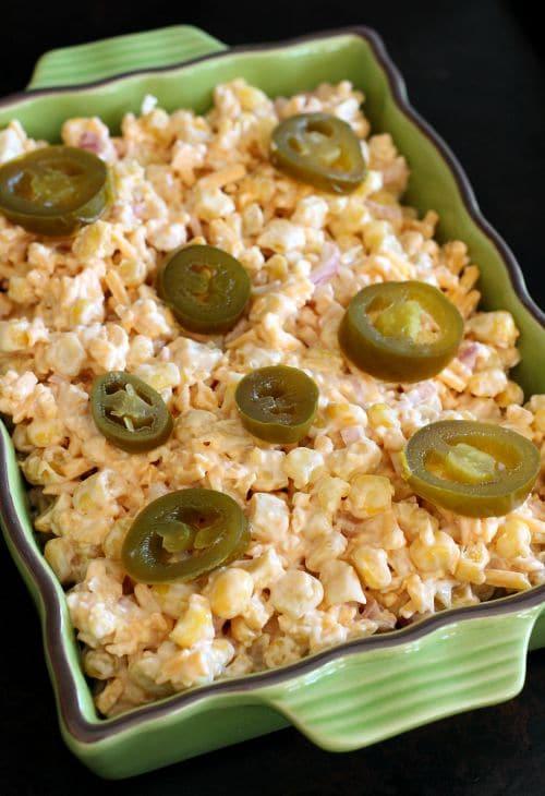 Cheesy Corn Dip process