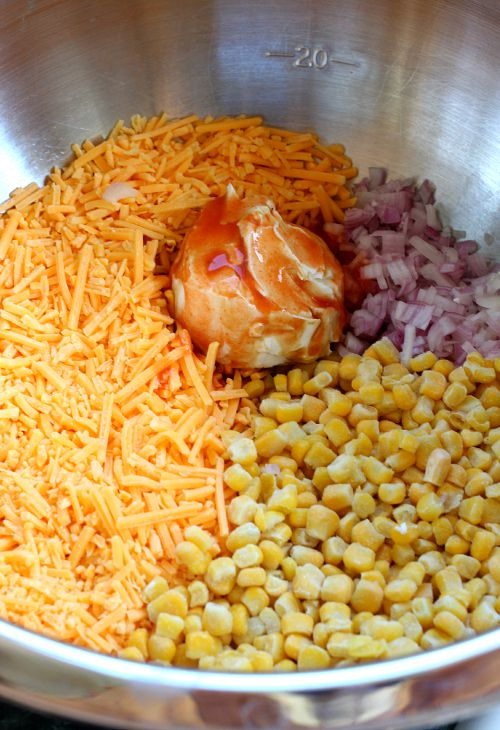 Cheesy Corn Dip ingredients