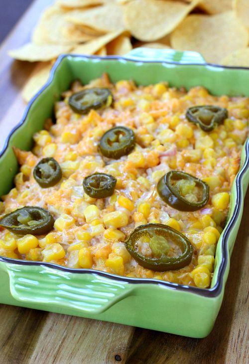 Cheesy Corn Dip in baking dish