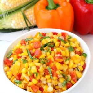 Fresh Corn Succotash is the perfect Summer side dish!