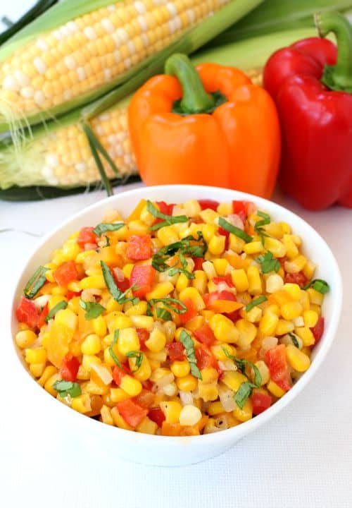 Corn Succotash is the perfect Summer side dish!