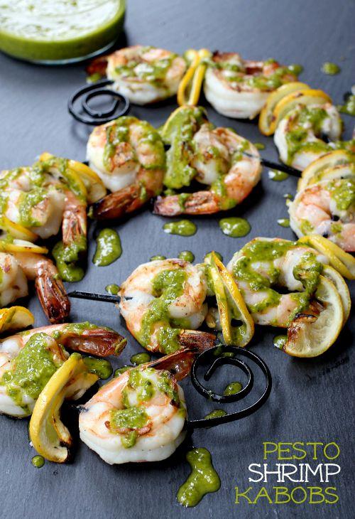 Pesto Shrimp Kabobs featured