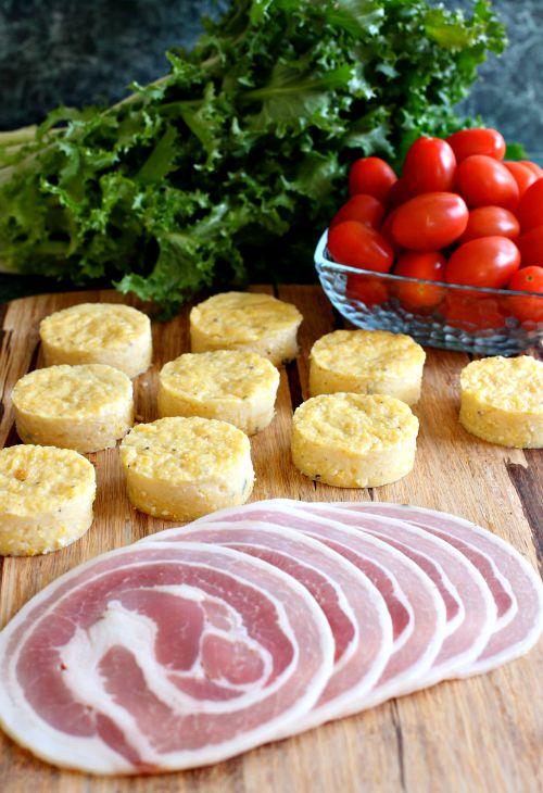 Polenta BLT Appetizers ingredients