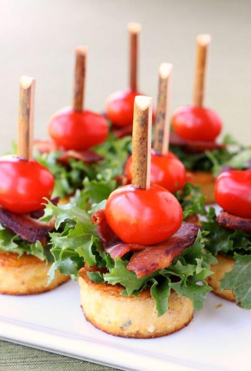 Polenta BLT Appetizers front
