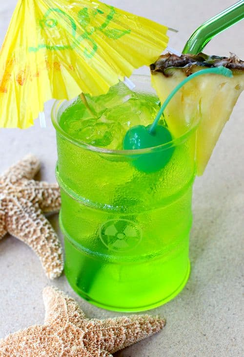 Toxic Tonic Cocktail with umbrella