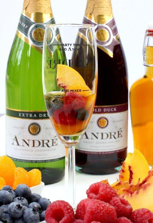 Champagne Sangria process