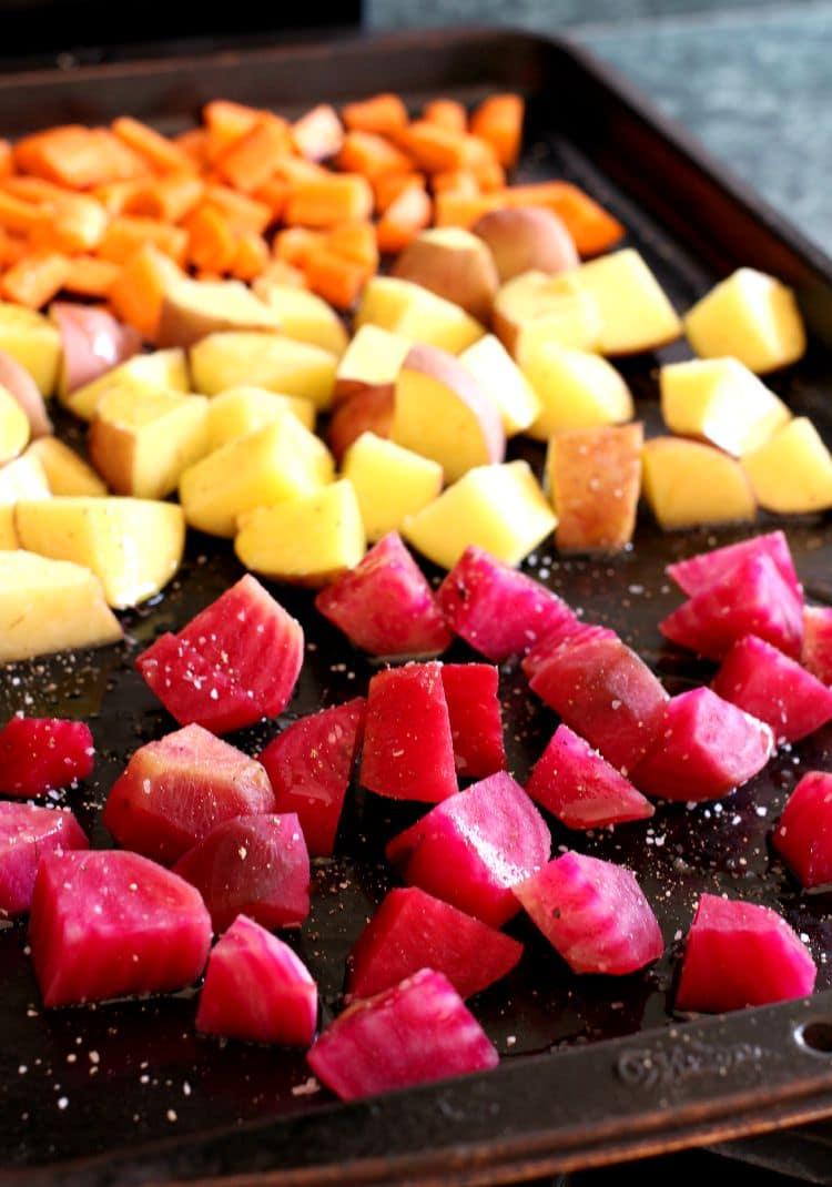 Roasted Vegetable Chowder with Kielbasa - Mantitlement
