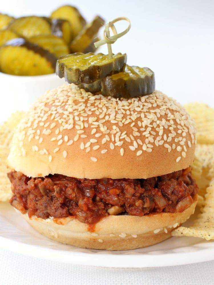 Sneaky Sloppy Joes featured on bun