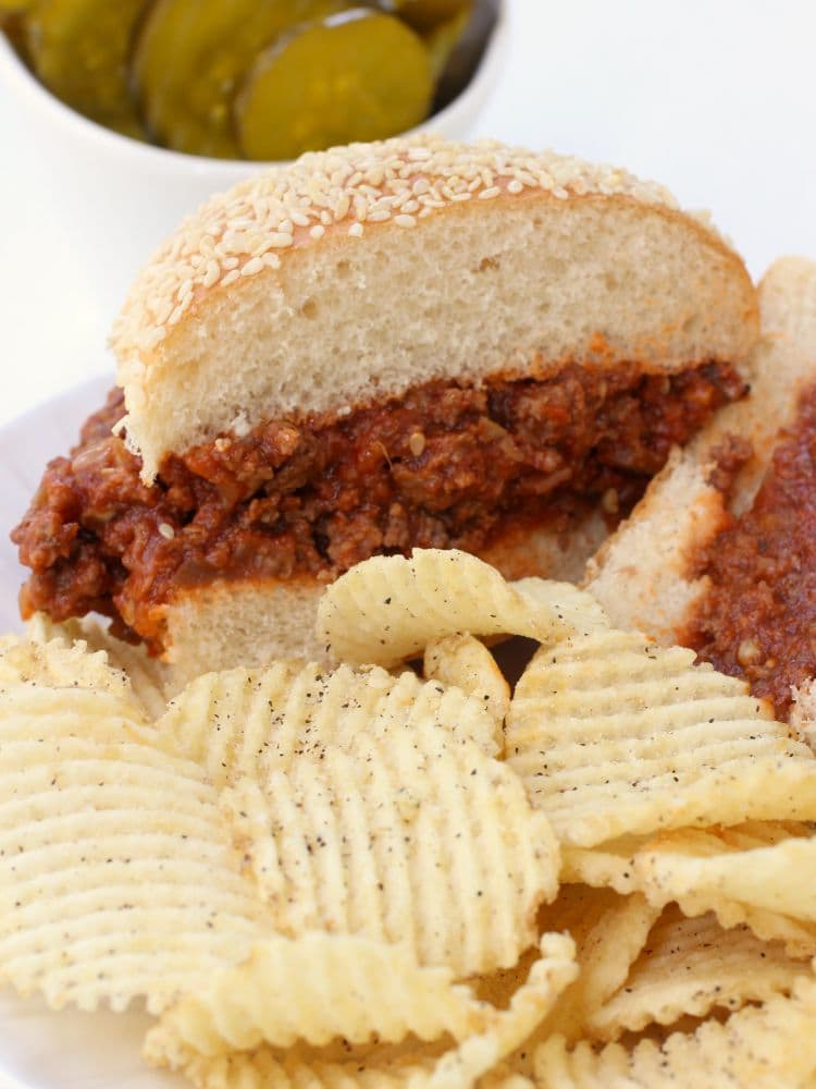 Sneaky Sloppy Joes are a vegetable and beef sloppy joe recipe