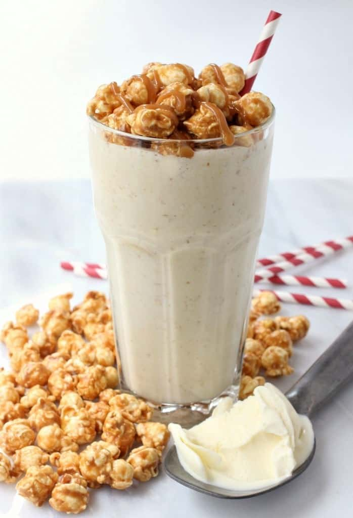Bourbon Caramel Corn Milkshake featured
