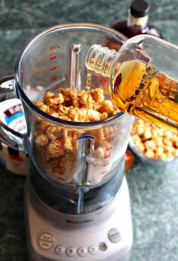 Bourbon Caramel Corn Milkshake blender