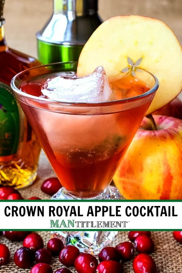 Crown Apple Cocktail collage for Pinterest