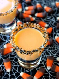 These Pumpkin Pie Shots are going to be a hit for Halloween!