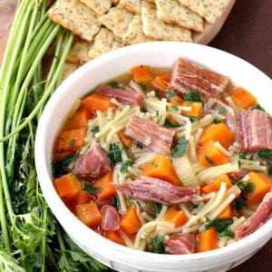 Slow Cooker Ham Noodle Soup